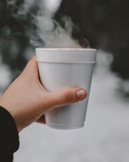 Styrofoam cup - plastic waste